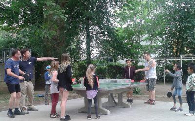 Tischtennisplatte im Steinweg erfreut Familien
